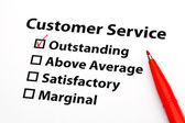 Customer service performance appraisal — Stock Photo