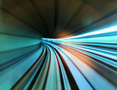 Traffic light in tunnel — Stock Photo