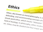 Definition of ethics — Stock Photo