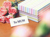Gift to mum for mother day — Stock Photo