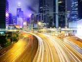 Highway in modern city — Stock Photo