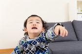 Asian baby boy feeling upset — Stock Photo