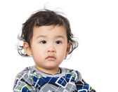 Little boy feel hesitation — Stock Photo