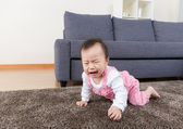 Aisa baby crying at home — Stock Photo