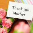 Stock Photo: Thank you card and carnation