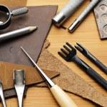 Handmade leathercraft tool — Stock Photo