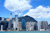 Commercial district in Hong Kong — Stock Photo