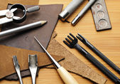 Handmade leathercraft tool — Stock Photo