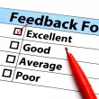 Stock Photo: Feedback form