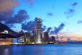 Skyline de hong kong au cours de la soirée — Photo