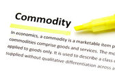 Definition of commodity — Stock Photo