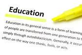 Definição de educação — Foto Stock