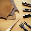 Stock Photo: Leather craft tool