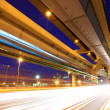 Stock Photo: Elevated freeway with traffic trail