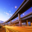 Stock Photo: Freeway with traffic trail