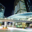 Stock Photo: Tokyo city with car light