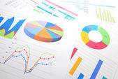 Graphical chart analysis — Stock Photo