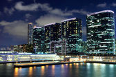 Kowloon side in Hong Kong at night — Stock Photo