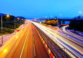 Highway at evening — Stock Photo