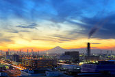 Industrial plant during evening — Stock Photo