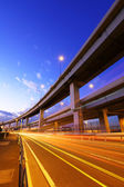 Freeway with traffic trail — Stock Photo