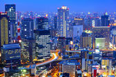 Osaka cityscape at night — Stock Photo