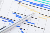 Gantt chart — Stock Photo