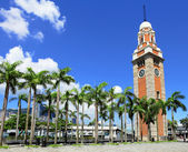 Clock tower in Hong Kong with clear blue sky — Stock Photo