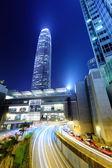 Hong Kong city with roadway — Stock Photo