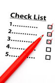 Checklist with number — Stock Photo