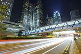 Hohen verkehrsaufkommens im zentralen stadtteil in hong kong — Stockfoto