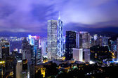 Hong kong stad bij nacht — Stockfoto