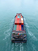 Cargo ship from top — Stock Photo