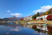 Lake kawaguchi in Japan — Stock Photo