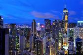 Noche de hong kong — Foto de Stock