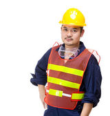 Asian technician portrait — Stock fotografie