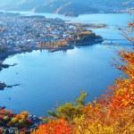 Japanese lake kawaguchi — Stock Photo