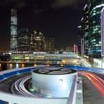 Kowloon side in Hong Kong at night — Stock Photo
