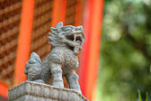 Lion stone statue — Stock Photo