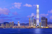 Kowloon side at night — Stock Photo