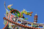 Chinese temple roof eave — Stock Photo