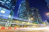 Hong Kong with traffic trail — Stock Photo