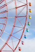 Ferris wheel with clear blue sky — Stock Photo
