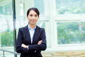 Asia businesswman at outdoor — Stock Photo