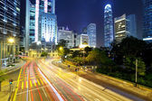 Hong Kong city with busy traffic road — Stock Photo