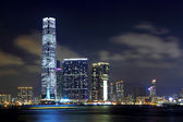 Kowloon in Hong Kong at night — Stock Photo