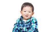 Asian baby boy feel happy — Stock Photo