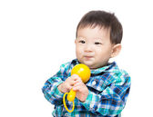 Asian baby boy playing with a  toy — Stok fotoğraf