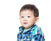 Baby boy feel curiosity — Stock Photo