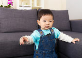 Asian baby boy pointing to front — ストック写真